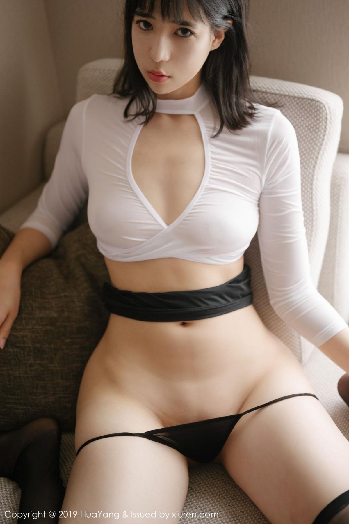 [Huayang] Vol.164 Ai Li Li 24P, Ai Li Li, Black Silk, HuaYang, Underwear