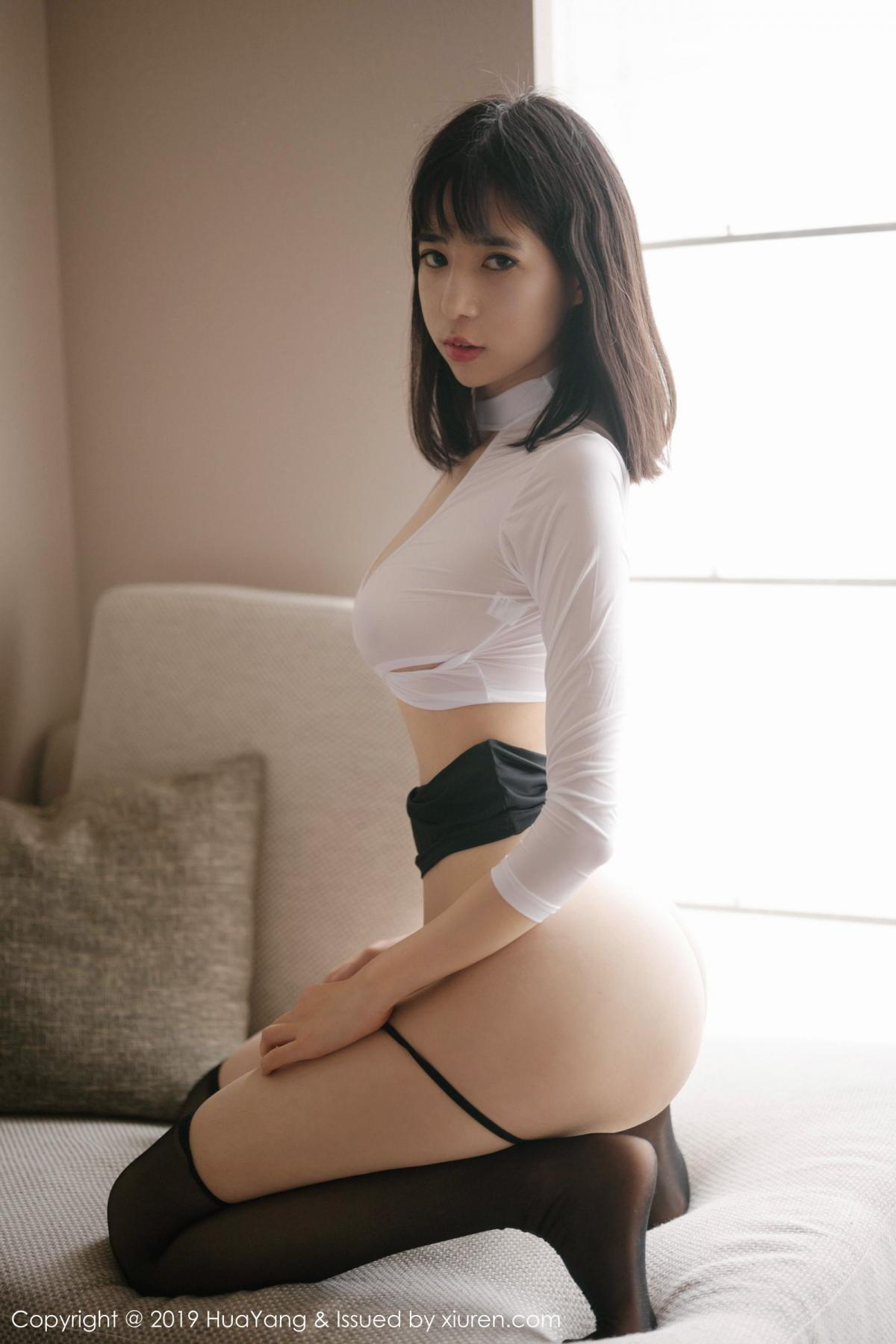 [Huayang] Vol.164 Ai Li Li 25P, Ai Li Li, Black Silk, HuaYang, Underwear