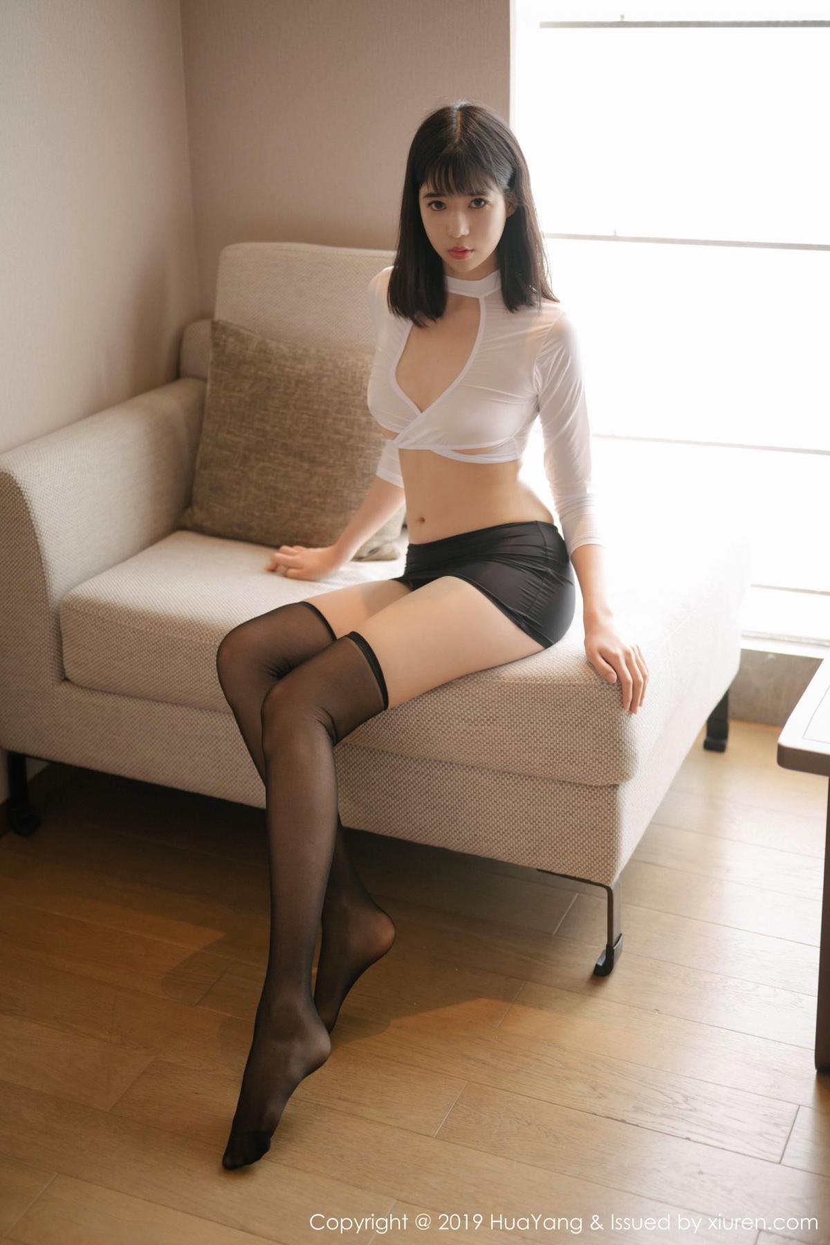 [Huayang] Vol.164 Ai Li Li 8P, Ai Li Li, Black Silk, HuaYang, Underwear