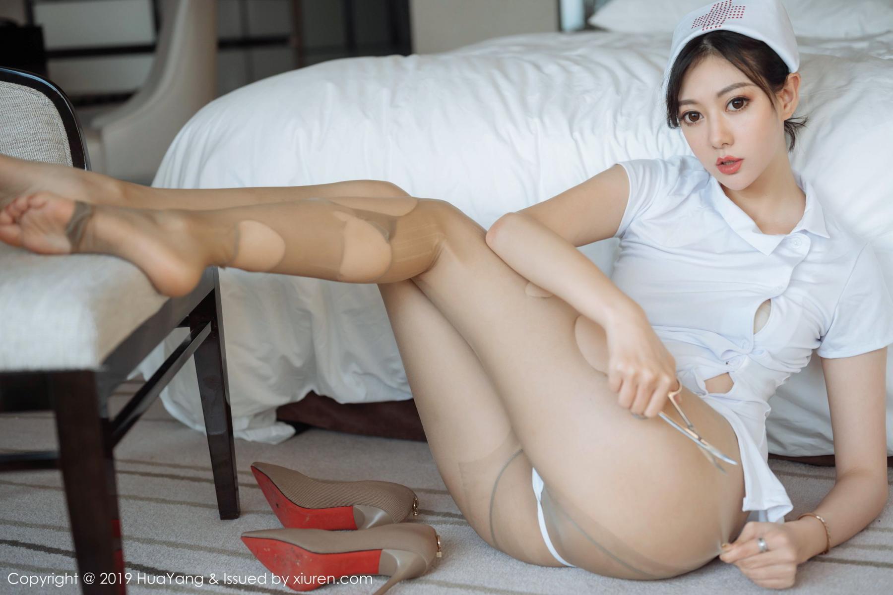 [Huayang] Vol.166 Fu Yi Xuan 48P, Fu Yi Xuan, HuaYang, Nurse, Tall