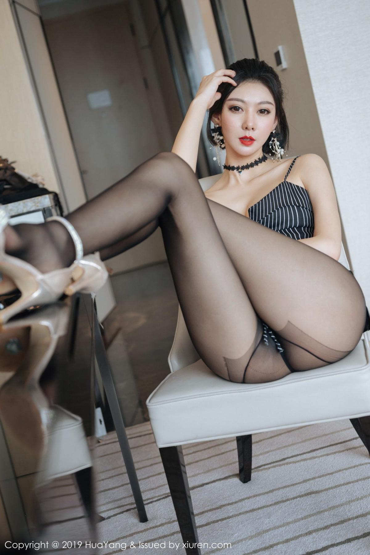 [Huayang] Vol.172 Fu Yi Xuan 15P, Black Silk, Foot, Fu Yi Xuan, HuaYang