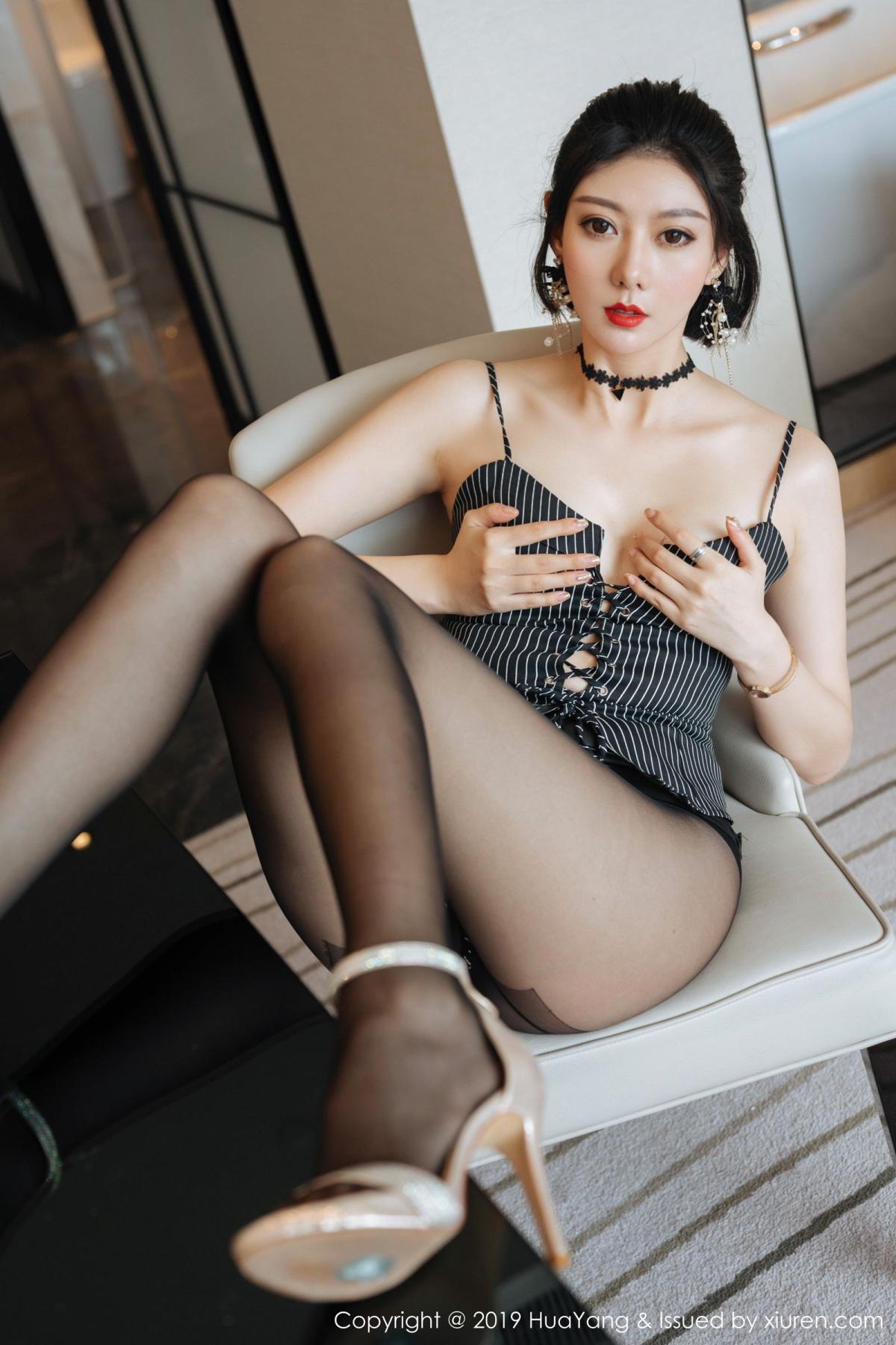 [Huayang] Vol.172 Fu Yi Xuan 18P, Black Silk, Foot, Fu Yi Xuan, HuaYang