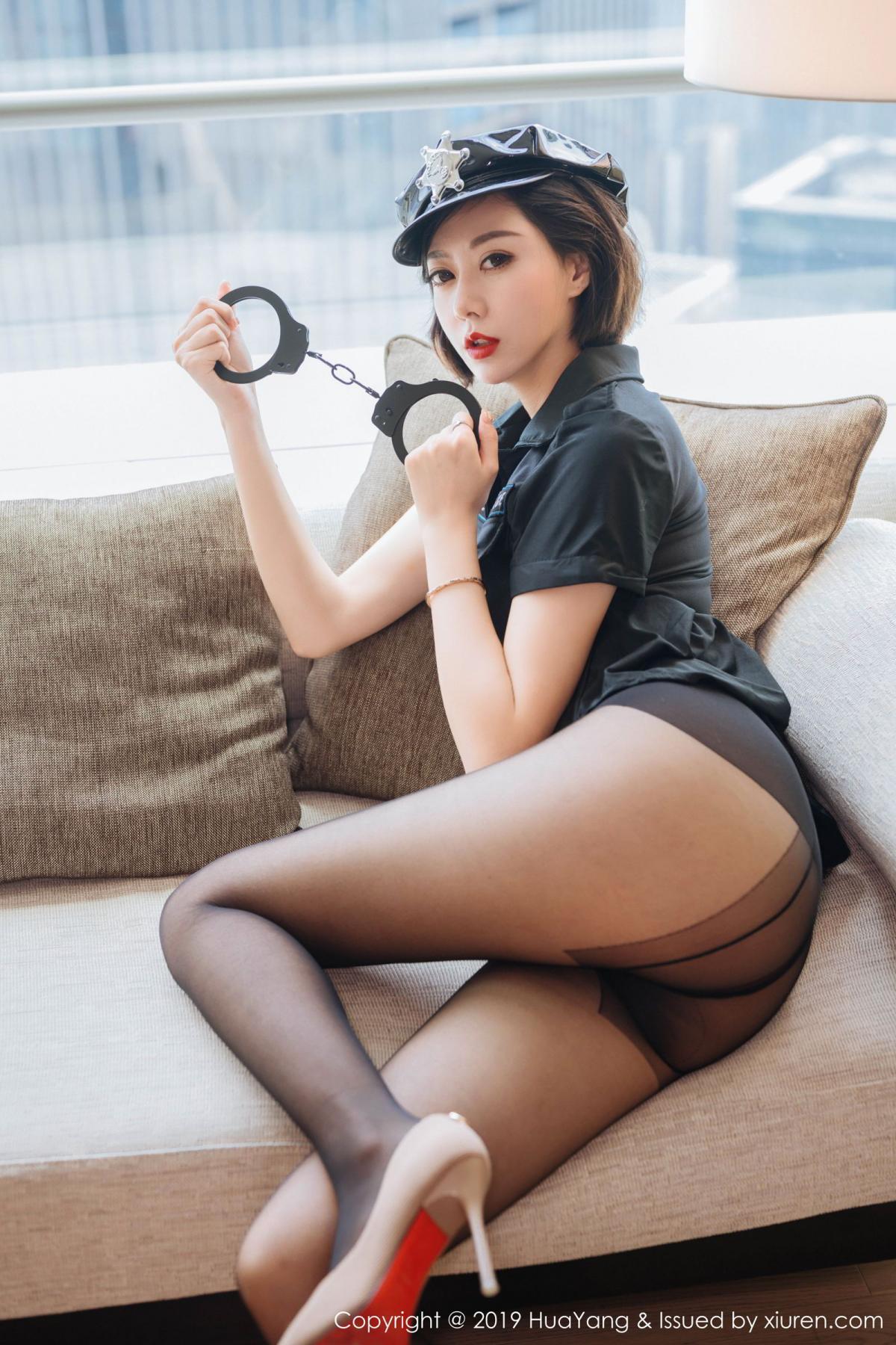 [Huayang] Vol.179 Fu Yi Xuan 11P, Black Silk, Fu Yi Xuan, HuaYang, Policewoman, Tall, Uniform