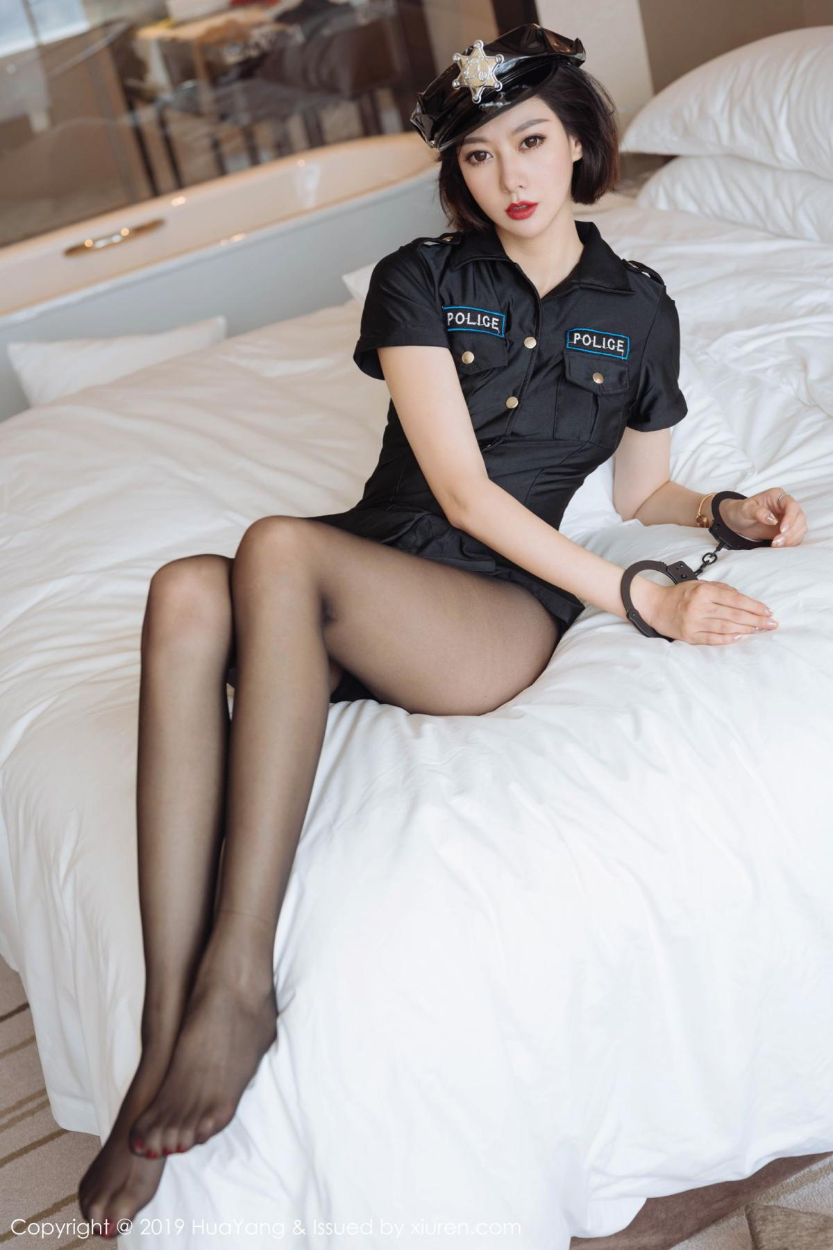 [Huayang] Vol.179 Fu Yi Xuan 23P, Black Silk, Fu Yi Xuan, HuaYang, Policewoman, Tall, Uniform