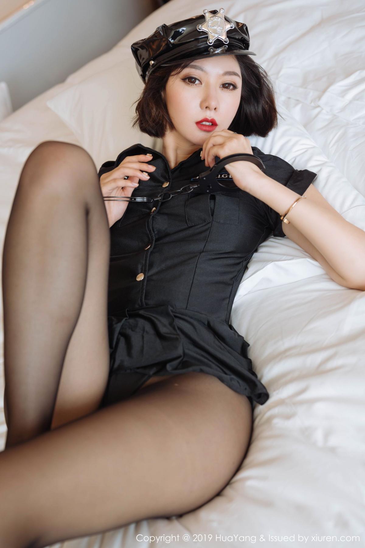 [Huayang] Vol.179 Fu Yi Xuan 25P, Black Silk, Fu Yi Xuan, HuaYang, Policewoman, Tall, Uniform
