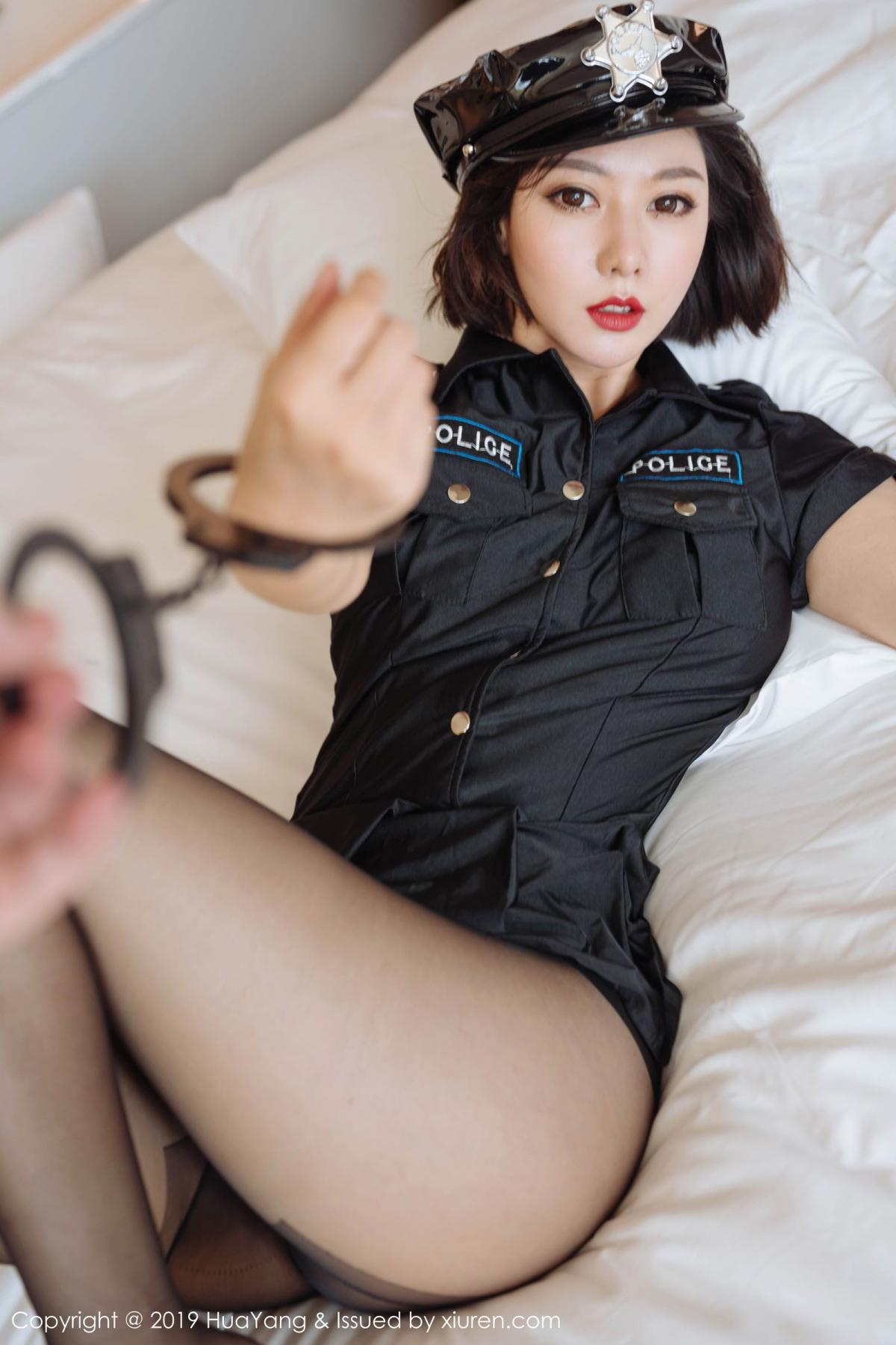 [Huayang] Vol.179 Fu Yi Xuan 28P, Black Silk, Fu Yi Xuan, HuaYang, Policewoman, Tall, Uniform