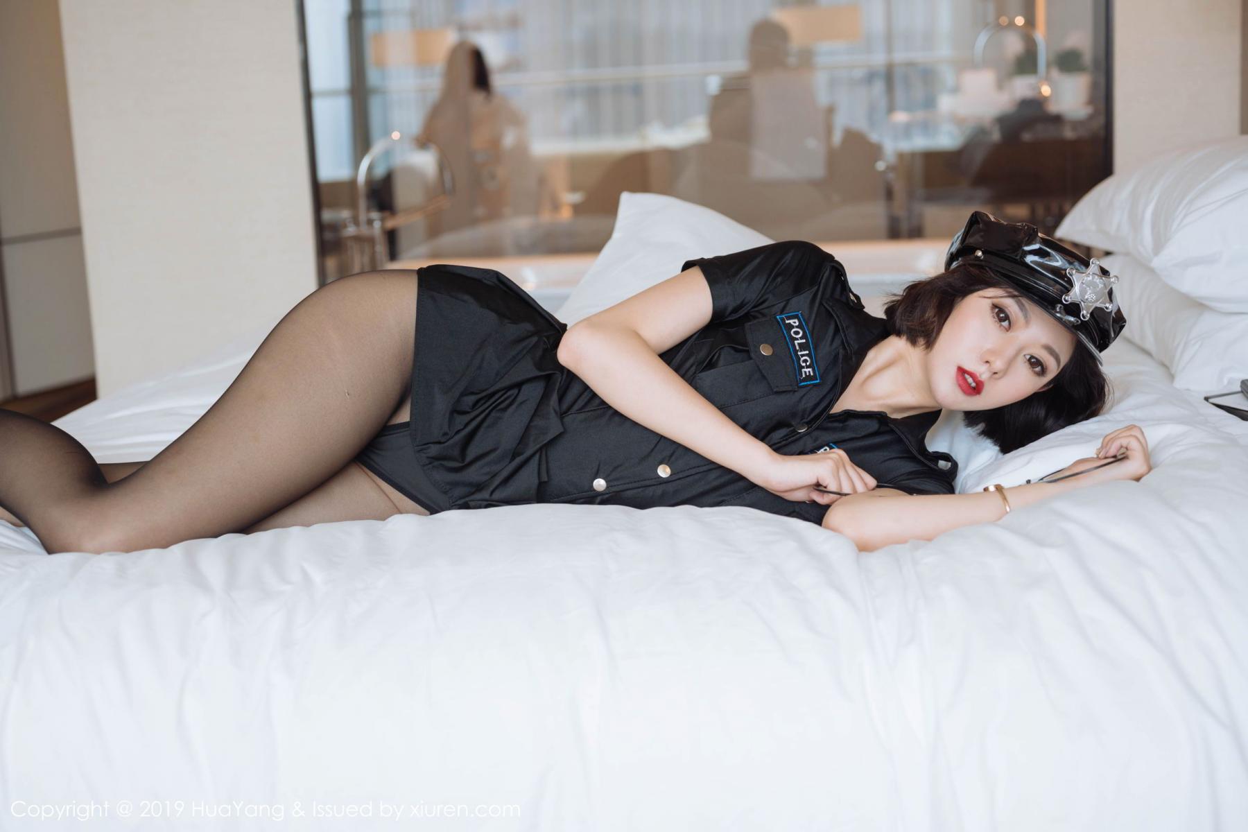 [Huayang] Vol.179 Fu Yi Xuan 30P, Black Silk, Fu Yi Xuan, HuaYang, Policewoman, Tall, Uniform