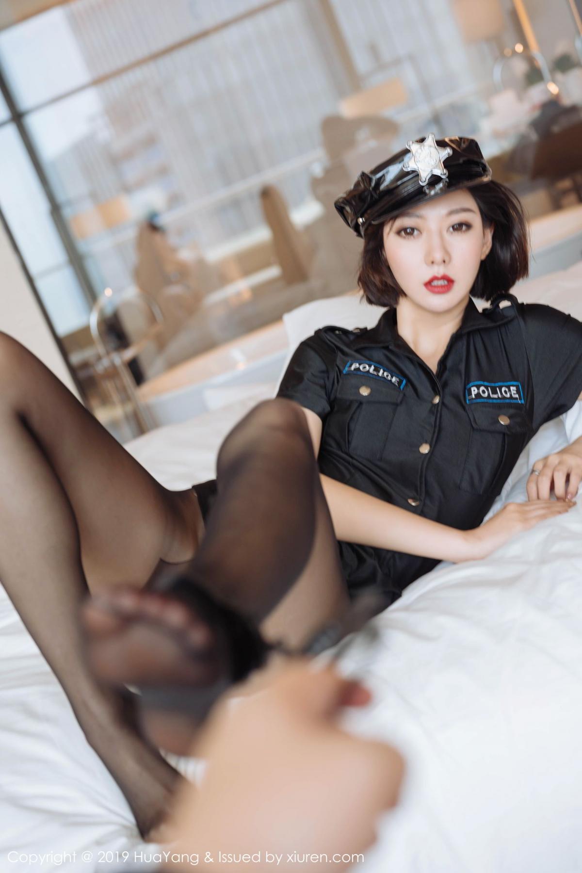 [Huayang] Vol.179 Fu Yi Xuan 33P, Black Silk, Fu Yi Xuan, HuaYang, Policewoman, Tall, Uniform