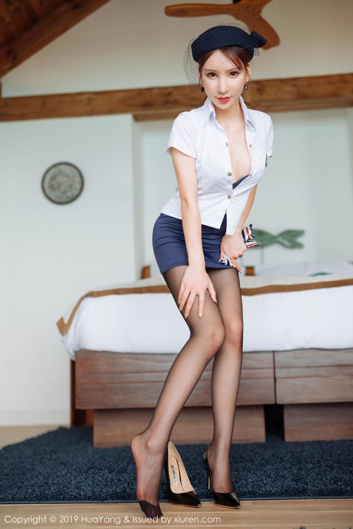 [Huayang] Vol.186 Zhou Yu Xi 33P, HuaYang, Stewardess, Tall, Zhou Yu Xi