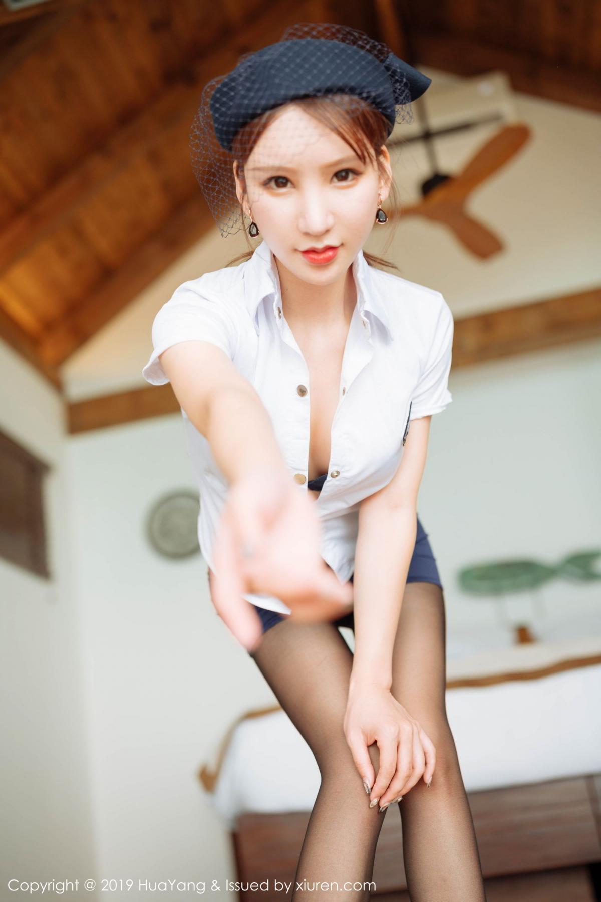 [Huayang] Vol.186 Zhou Yu Xi 35P, HuaYang, Stewardess, Tall, Zhou Yu Xi