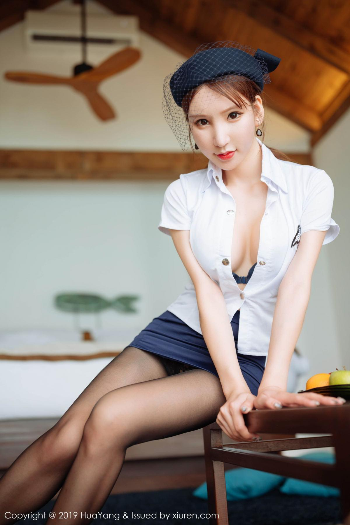 [Huayang] Vol.186 Zhou Yu Xi 37P, HuaYang, Stewardess, Tall, Zhou Yu Xi