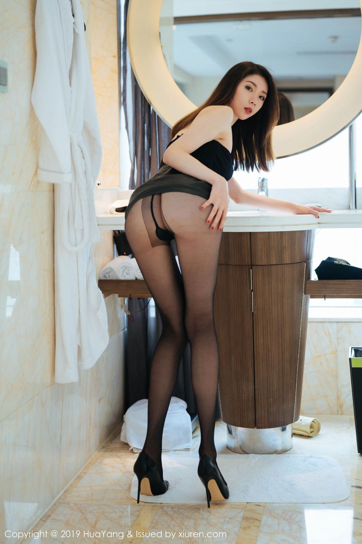[Huayang] Vol.187 Meng Xin Yue 19P, Black Silk, HuaYang, Meng Xin Yue, Tall