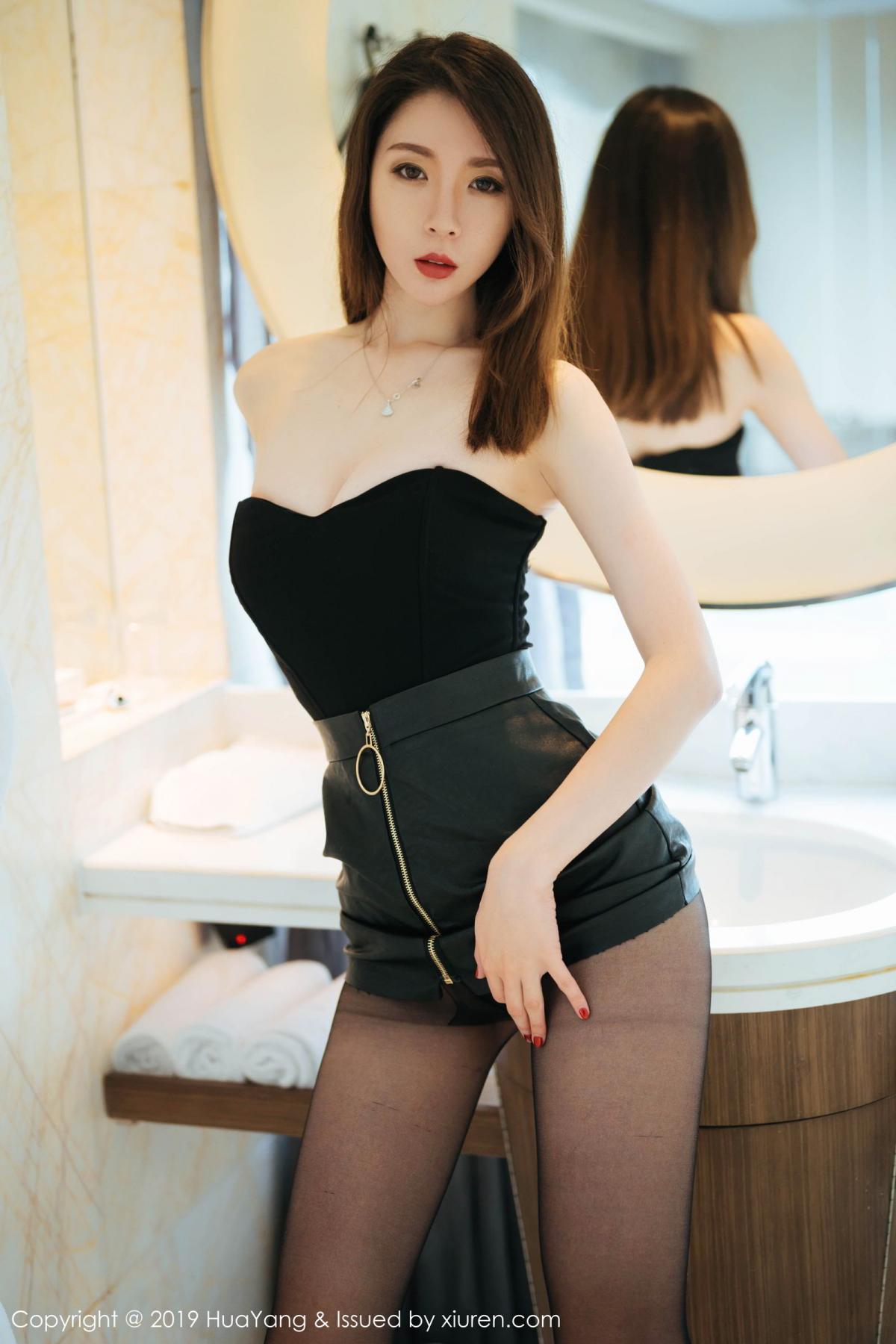 [Huayang] Vol.187 Meng Xin Yue 1P, Black Silk, HuaYang, Meng Xin Yue, Tall
