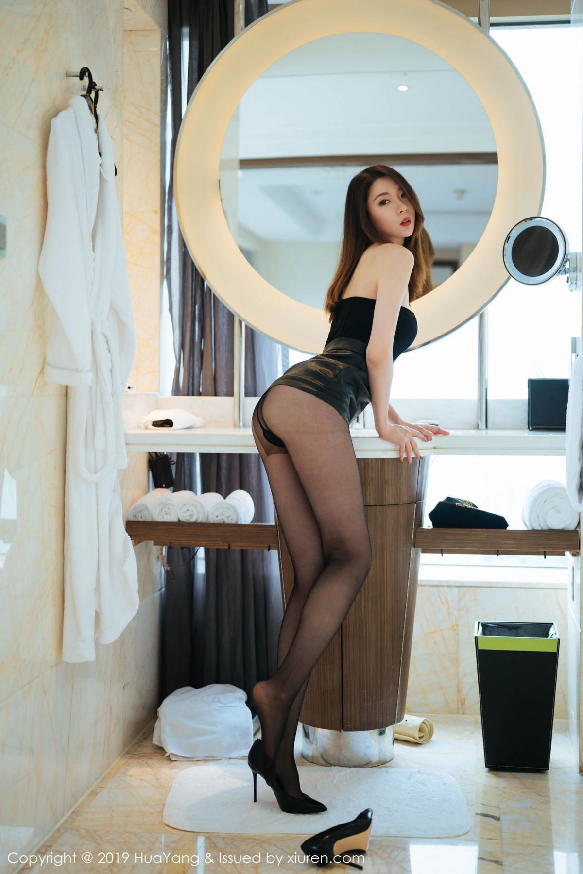 [Huayang] Vol.187 Meng Xin Yue 21P, Black Silk, HuaYang, Meng Xin Yue, Tall