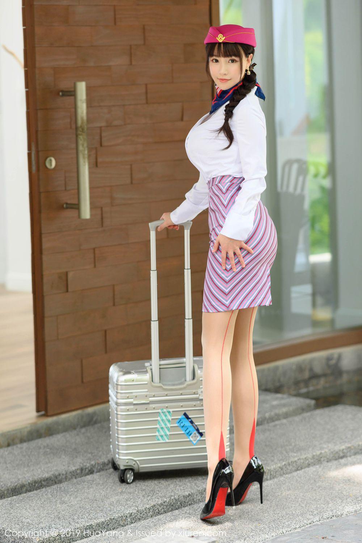 [Huayang] Vol.202 The stewardess after work 2P, HuaYang, Stewardess, Underwear, Zhu Ke Er