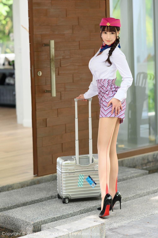 [Huayang] Vol.202 The stewardess after work 3P, HuaYang, Stewardess, Underwear, Zhu Ke Er