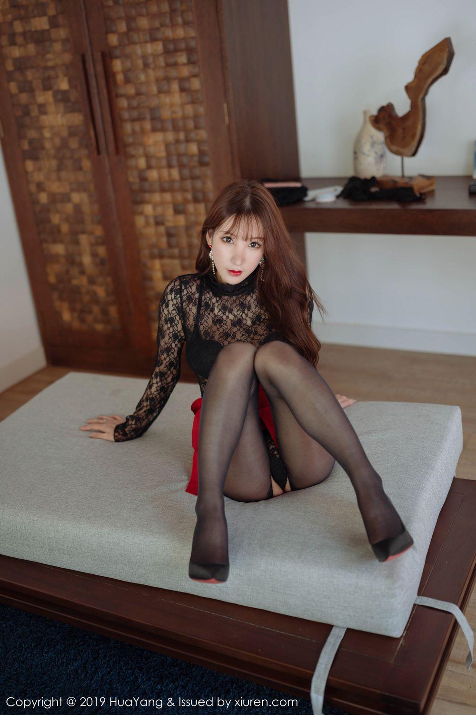 [Huayang] Vol.204 Zhou Yu Xi 32P, Black Silk, HuaYang, Underwear, Zhou Yu Xi
