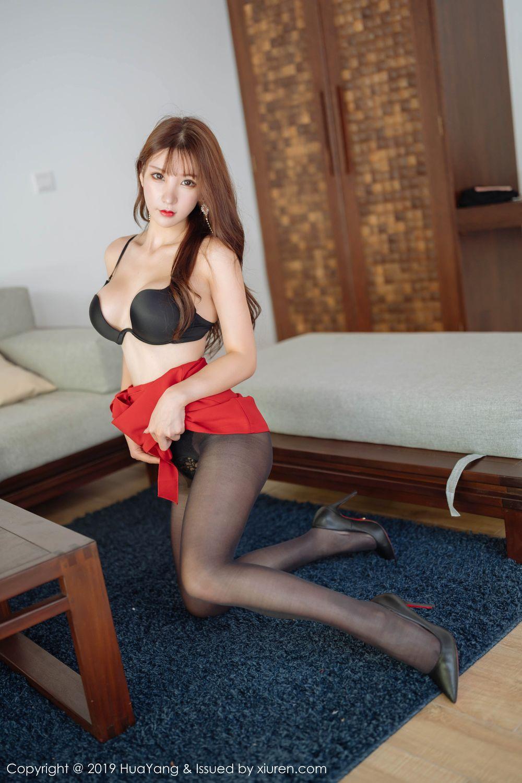 [Huayang] Vol.204 Zhou Yu Xi 44P, Black Silk, HuaYang, Underwear, Zhou Yu Xi