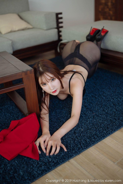 [Huayang] Vol.204 Zhou Yu Xi 46P, Black Silk, HuaYang, Underwear, Zhou Yu Xi