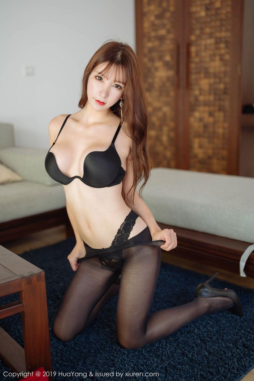 [Huayang] Vol.204 Zhou Yu Xi 47P, Black Silk, HuaYang, Underwear, Zhou Yu Xi