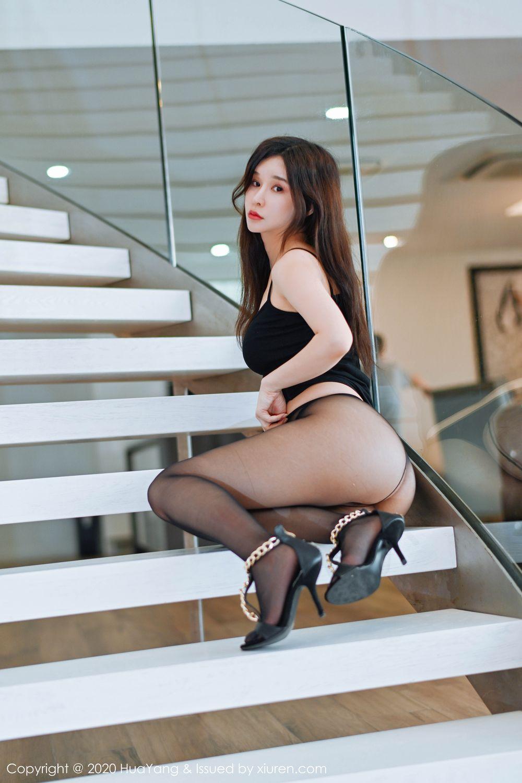 [Huayang] Vol.208 Zhang Yu Meng 29P, Black Silk, Chun Xiao Xi, HuaYang, Tall