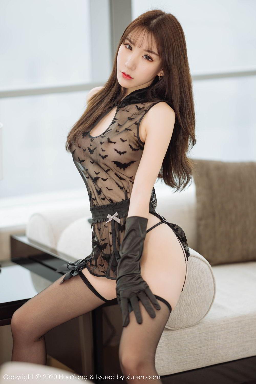 [Huayang] Vol.220 Zhou Yu Xi 15P, Black Silk, HuaYang, Underwear, Zhou Yu Xi