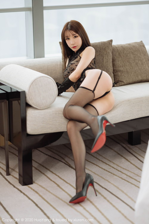 [Huayang] Vol.220 Zhou Yu Xi 18P, Black Silk, HuaYang, Underwear, Zhou Yu Xi