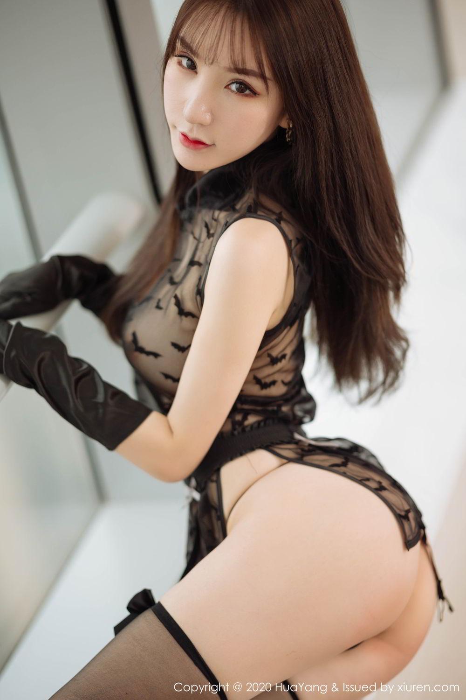 [Huayang] Vol.220 Zhou Yu Xi 40P, Black Silk, HuaYang, Underwear, Zhou Yu Xi
