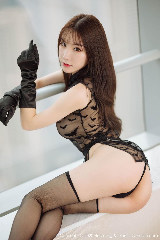 [Huayang] Vol.220 Zhou Yu Xi 42P, Black Silk, HuaYang, Underwear, Zhou Yu Xi