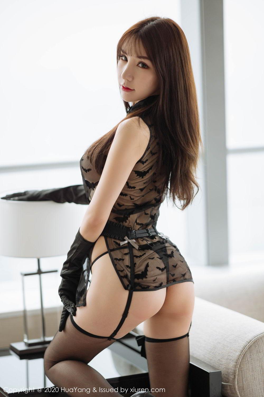 [Huayang] Vol.220 Zhou Yu Xi 7P, Black Silk, HuaYang, Underwear, Zhou Yu Xi