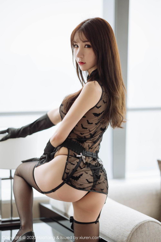 [Huayang] Vol.220 Zhou Yu Xi 9P, Black Silk, HuaYang, Underwear, Zhou Yu Xi