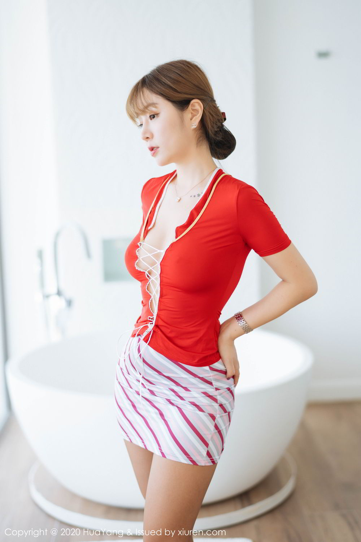 [Huayang] Vol.224 Wang Yu Chun 8P, HuaYang, Stewardess, Tall, Wang Yu Chun