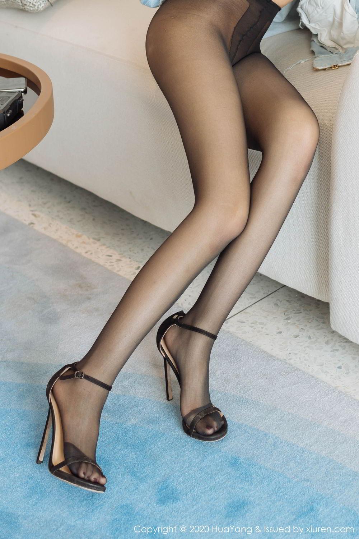 [Huayang] Vol.238 Ao Li 10P, Ao Li, Bathroom, Black Silk, HuaYang, Underwear