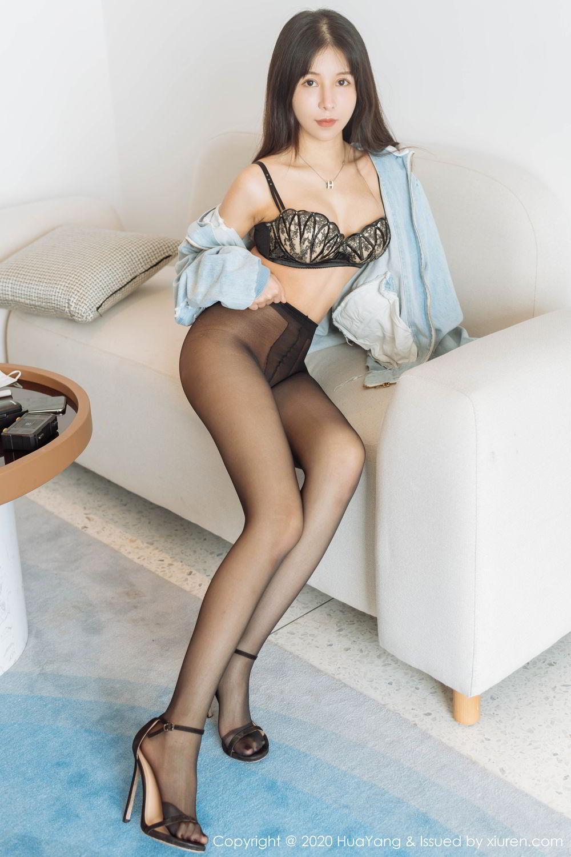 [Huayang] Vol.238 Ao Li 11P, Ao Li, Bathroom, Black Silk, HuaYang, Underwear