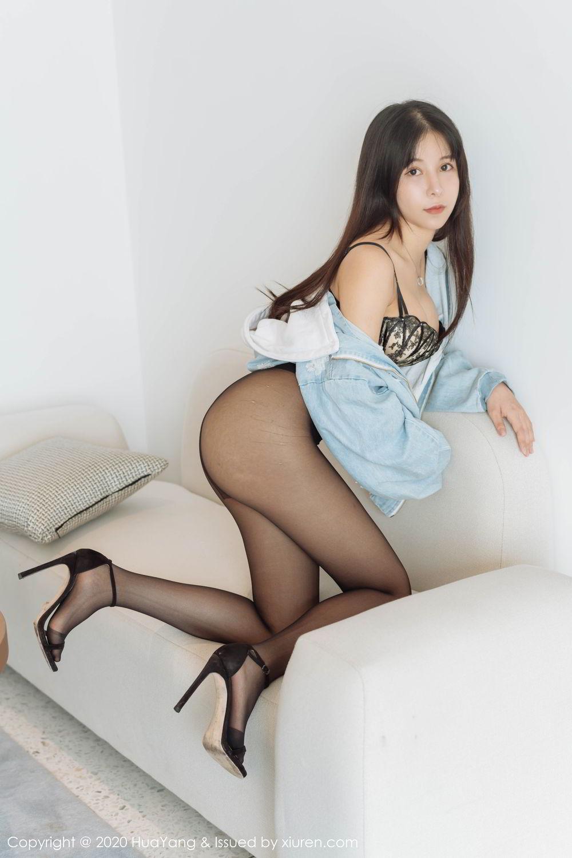 [Huayang] Vol.238 Ao Li 16P, Ao Li, Bathroom, Black Silk, HuaYang, Underwear