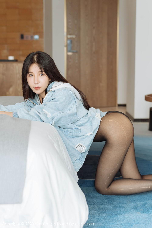 [Huayang] Vol.238 Ao Li 17P, Ao Li, Bathroom, Black Silk, HuaYang, Underwear