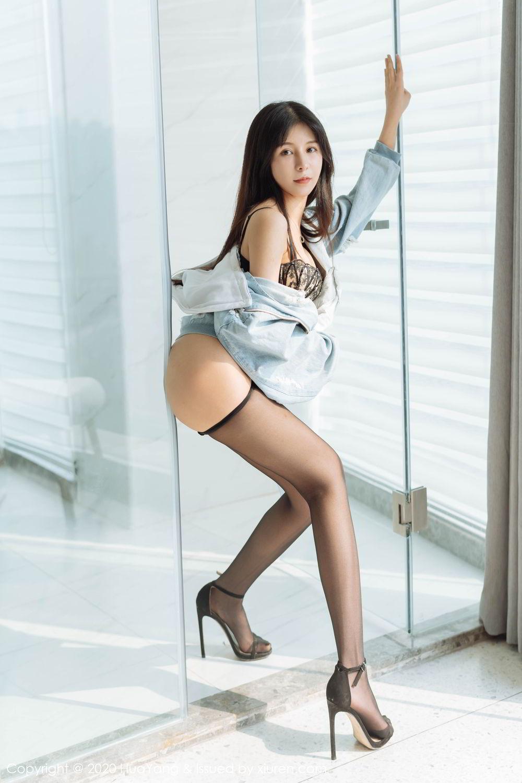 [Huayang] Vol.238 Ao Li 30P, Ao Li, Bathroom, Black Silk, HuaYang, Underwear