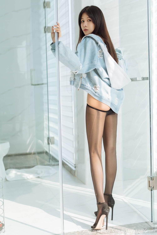 [Huayang] Vol.238 Ao Li 39P, Ao Li, Bathroom, Black Silk, HuaYang, Underwear