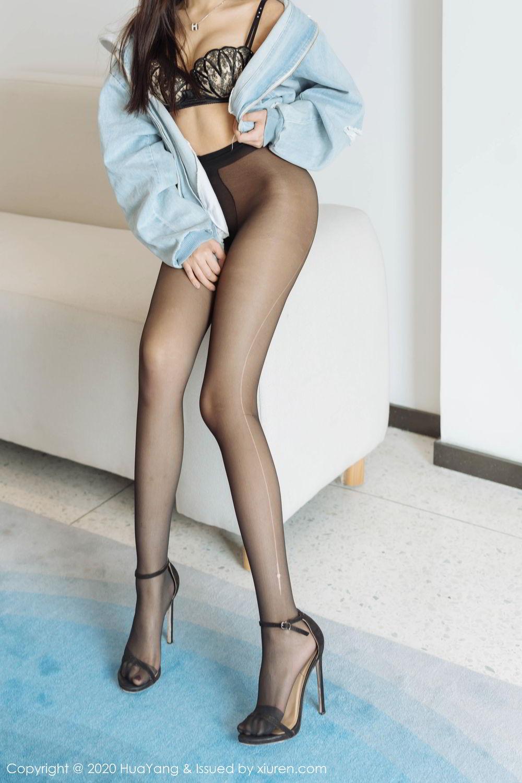 [Huayang] Vol.238 Ao Li 8P, Ao Li, Bathroom, Black Silk, HuaYang, Underwear