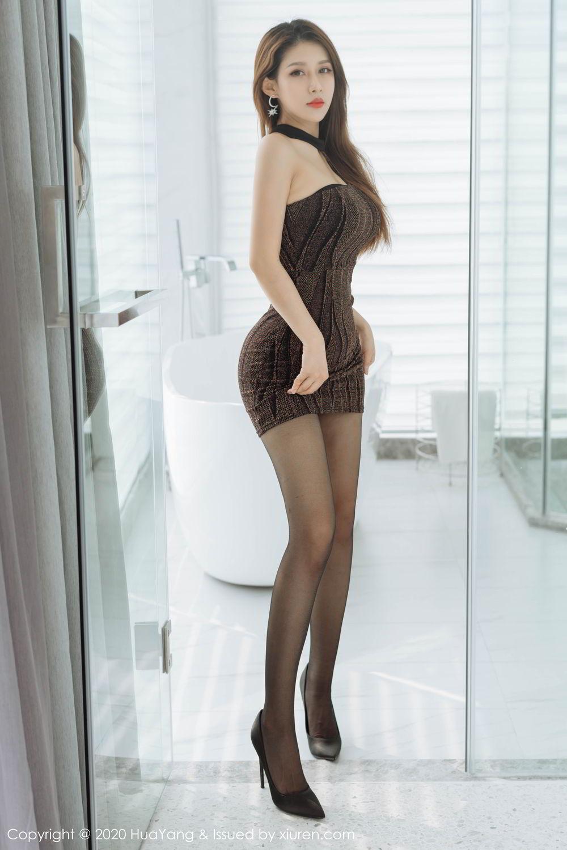 [Huayang] Vol.239 Xu An An 11P, Bathroom, Black Silk, HuaYang, Xu An An