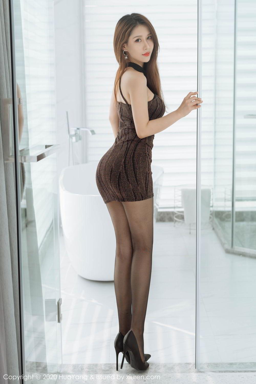 [Huayang] Vol.239 Xu An An 12P, Bathroom, Black Silk, HuaYang, Xu An An
