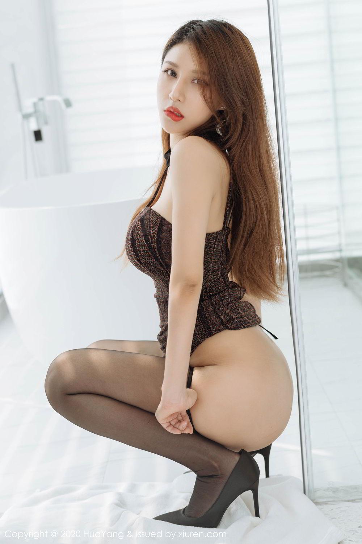[Huayang] Vol.239 Xu An An 23P, Bathroom, Black Silk, HuaYang, Xu An An