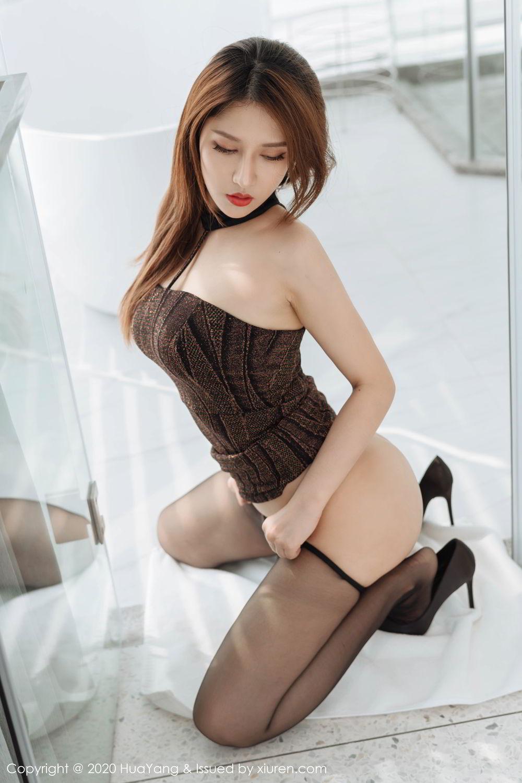 [Huayang] Vol.239 Xu An An 24P, Bathroom, Black Silk, HuaYang, Xu An An