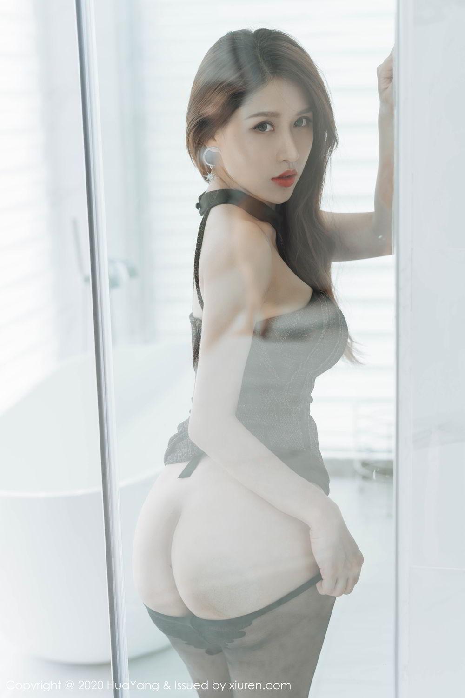 [Huayang] Vol.239 Xu An An 26P, Bathroom, Black Silk, HuaYang, Xu An An
