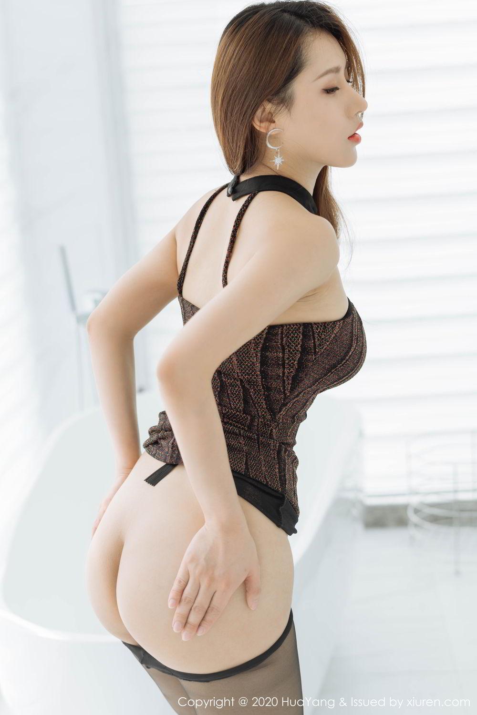 [Huayang] Vol.239 Xu An An 28P, Bathroom, Black Silk, HuaYang, Xu An An