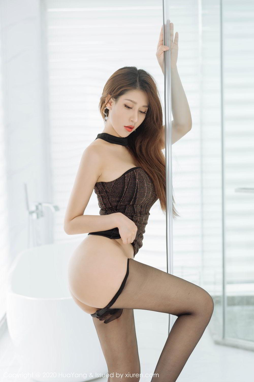 [Huayang] Vol.239 Xu An An 30P, Bathroom, Black Silk, HuaYang, Xu An An