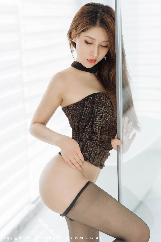 [Huayang] Vol.239 Xu An An 34P, Bathroom, Black Silk, HuaYang, Xu An An