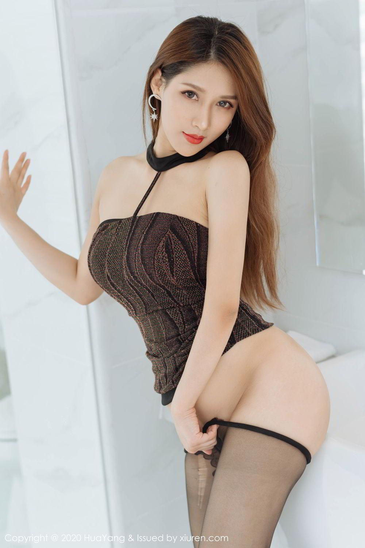 [Huayang] Vol.239 Xu An An 38P, Bathroom, Black Silk, HuaYang, Xu An An