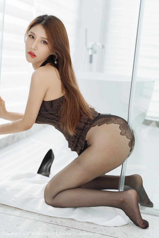 [Huayang] Vol.239 Xu An An 3P, Bathroom, Black Silk, HuaYang, Xu An An