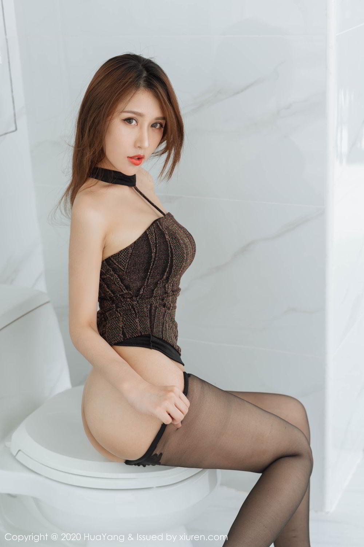 [Huayang] Vol.239 Xu An An 45P, Bathroom, Black Silk, HuaYang, Xu An An